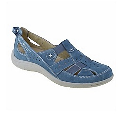 Earth Spirit - Blue 'Long Beach' ladies casual shoes