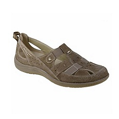 Earth Spirit - Brown 'Long Beach' ladies casual shoes