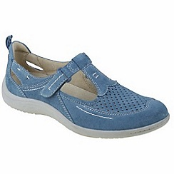 Earth Spirit - Moroccan blue 'Miami' ladies casual shoes