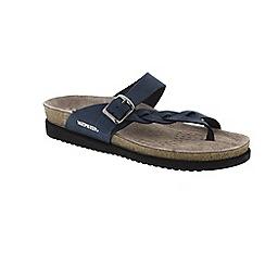 Mephisto - Navy Navy Sandalbuck 'Helen Twist' strappy toe post sandals