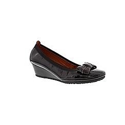 Hispanitas - Black 'Marbella' smart wedge shoe