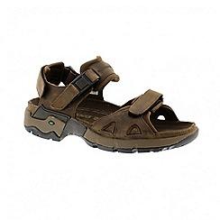 Mephisto - Brown 'alligator crazy horse 2' sandals