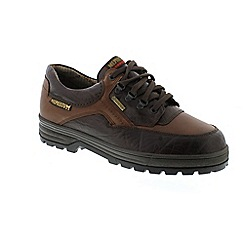 Mephisto - Brown 'Barracuda' mens waterproof lace-up shoes