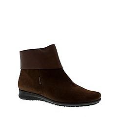 Mephisto - Chestnut 'Fiducia' ankle boots