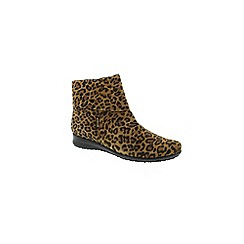 Mephisto - Leopard print 'Fiducia' ankle boots