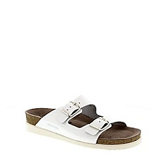 Mephisto - White vernis 'harmony' ladies sandals