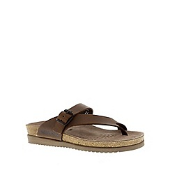 Mephisto - Brown 'Helen' toe thong sandal