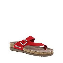 Mephisto - Bright red 'Helen' toe thong sandal