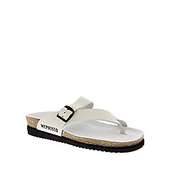 Mephisto - Off white 'Helen' toe thong sandal