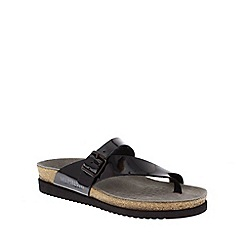 Mephisto - Black patent 'Helen' toe thong sandal