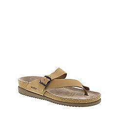 Mephisto - Camel Camel Sandalbuck 'Helen' strappy toe post sandals
