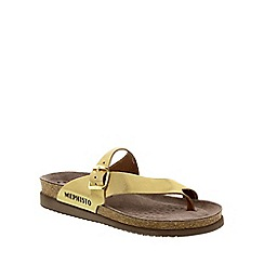 Mephisto - Gold 'Helen' ladies casual sandals