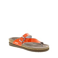 Mephisto - Orange Orange Vernis 'Helen' strappy toe post sandals