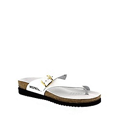 Mephisto - White patent 'Helen' casual ladies sandal