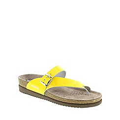 Mephisto - Yellow Yellow Vernis 'Helen' strappy toe post sandals