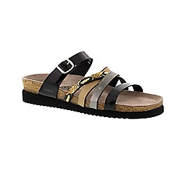 Mephisto - Black 'Huleda' slip-on sandal