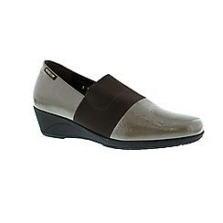 Mephisto - Taupe patent 'Kalima' wedge shoe