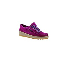 Mephisto - Mauve velours 'Lady' women's lace up shoes