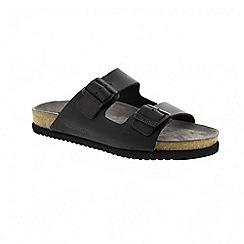 Mephisto - Black scratch nerio mens sandal