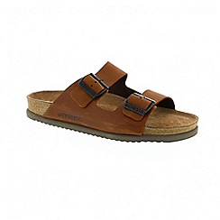 Mephisto - Brown chestnut scratch nerio mens sandal