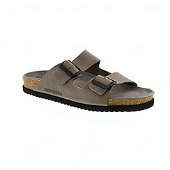 Mephisto - Taupe pewter scratch nerio mens sandal