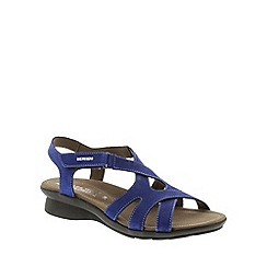Mephisto - Blue Electric Blue Bucksoft 'Parcela' strappy sandals