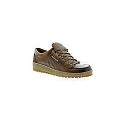 Mephisto - Brown hazelnut heritage 'Rainbow' men's lace up shoe