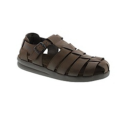 Mephisto - Dark brown old brush sam mens sandal