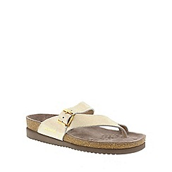 Mephisto - Beige 'Helen' ladies toe post sandals with buckle