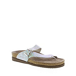 Mephisto - Silver nairobi 'Helen' ladies toe post sandals with buckle