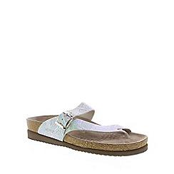 Mephisto - Silver nairobi 'Helen' ladies toe post sandals with buckle