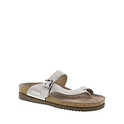 Mephisto - Silver venise 'Helen' ladies toe post sandals with buckle