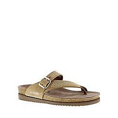 Mephisto - Camel 'Helen spark' ladies sandals with buckle