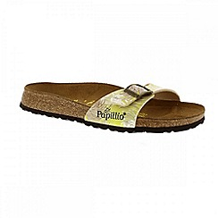 Birkenstock - Yellow 'Madrid' papillio ladies single strap sandals