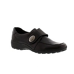 Remonte - Black ladies casual velcro shoe