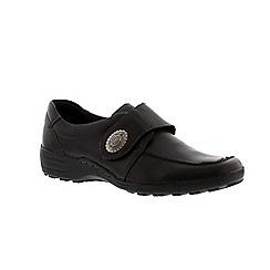 Remonte - Black ladies casual velcro shoe