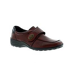 Remonte - Red ladies casual rip tape shoe