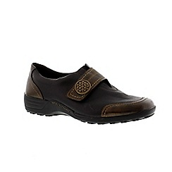 Remonte - Black combination ladies velcro casual shoe