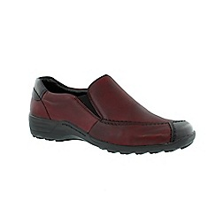 Remonte - Red ladies casual slip-on shoe