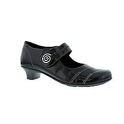 Remonte - Black ladies mary jane shoe
