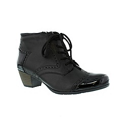 Remonte - Black ladies boot with lace detail