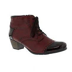 Remonte - Dark red mid heeled ankle boot