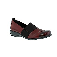 Remonte - Burgundy ladies casual shoe with elasticated strap