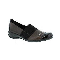 Remonte - Black ladies casual shoe with elasticated strap