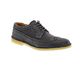 Selected Homme - Grey 'Leon brogue' men's shoes
