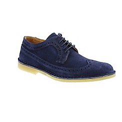 Selected Homme - Navy 'Leon brogue' men's shoes