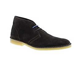 Selected Homme - Black leon mens suede boots