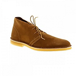 Selected Homme - Tan leon mens suede boots