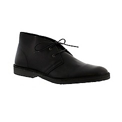Selected Homme - Black 'Leon' mens desert boot
