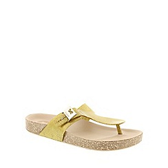 Zaxy - Gold Zaxy Gold Glitter 'Fashion' Women's Sandals